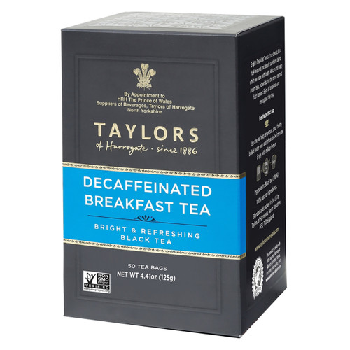 Taylors of Harrogate - Decaffeinated Breakfast Tea Bags - 50 count