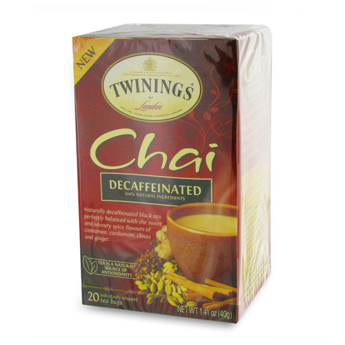 Twinings Decaffenianted Chai Tea - 20 count