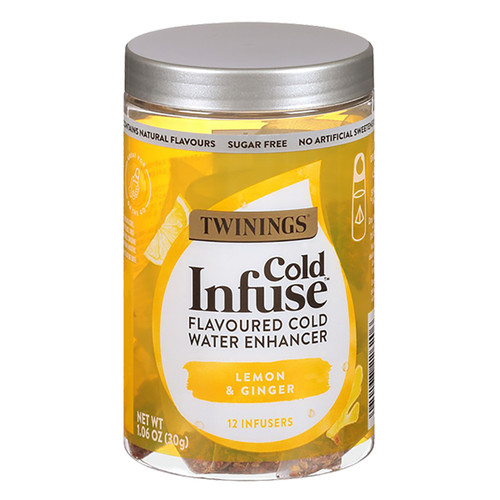 Twinings Cold Infuse Jar - Lemon & Ginger - 12 count