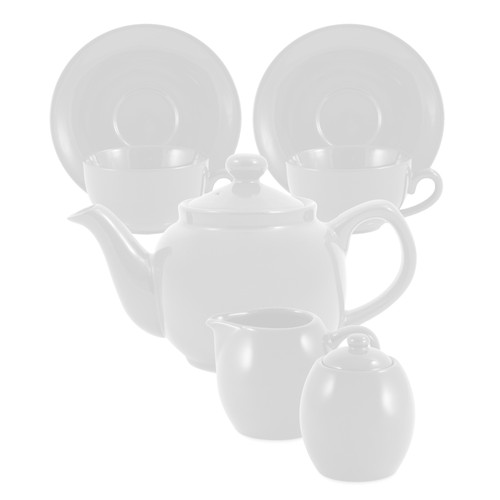 Amsterdam Tea Set - 2 Cup - White