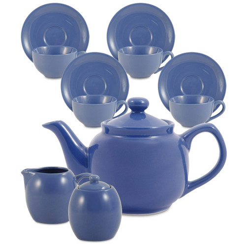Amsterdam Tea Set - 6 Cup - Cadet Blue