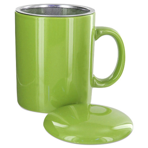 Teaz Cafe Infuser Mug with Lid - 11oz - Green