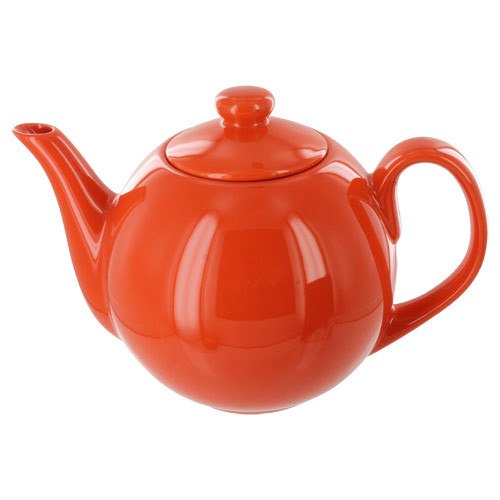 Teaz Cafe Teapot with Stainless Steel Infuser - 40oz - Orange