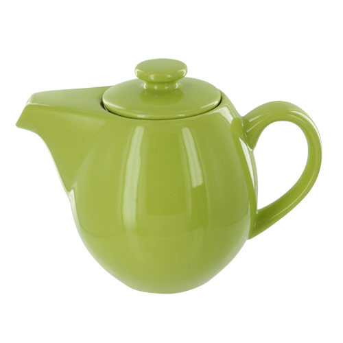 Teaz Cafe Teapot with Stainless Steel Infuser - 24oz - Green