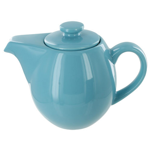 Teaz Cafe Teapot with Stainless Steel Infuser - 24oz - Turquoise