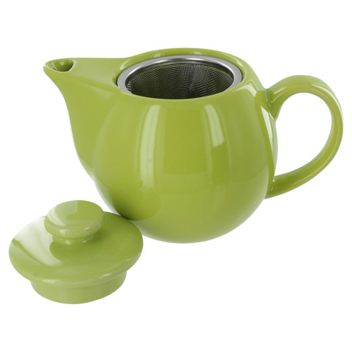 Teaz Cafe Teapot with Stainless Steel Infuser - 14oz - Green