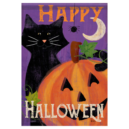 Carson Halloween Garden Flag - Festive Felines