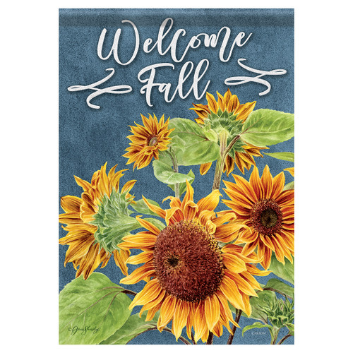 Carson Fall Garden Flag - Beautiful Sunflowers