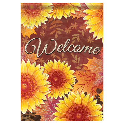 Carson Fall Banner Flag - Layered Sunflowers
