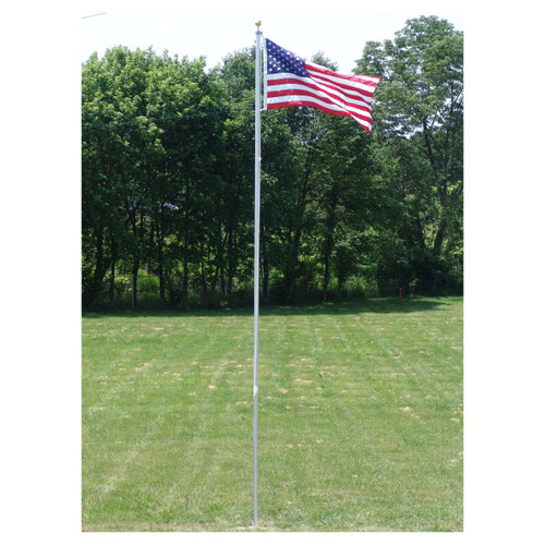 20-Foot Valley Forge Aluminum Flagpole with Sewn Nylon US Flag