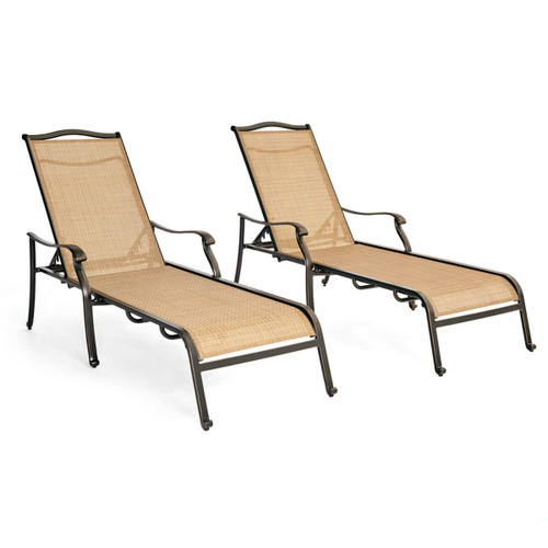 Monaco Chaise Lounge Chairs - Set of Two