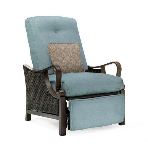 Ventura Outdoor Luxury Recliner in Ocean Blue