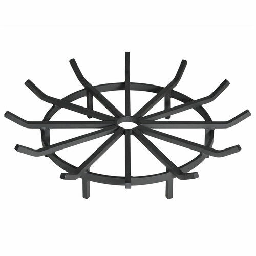Heavy Duty Wagon Wheel Outdoor Fire Pit Grate- 32 inch Diameter