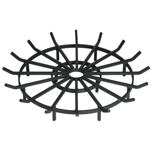 Heavy Duty Wagon Wheel Outdoor Fire Pit Grate- 40 inch Diameter