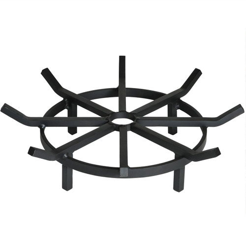Super Heavy Duty Wagon Wheel Outdoor Fire Pit Grate- 24 inch Diameter