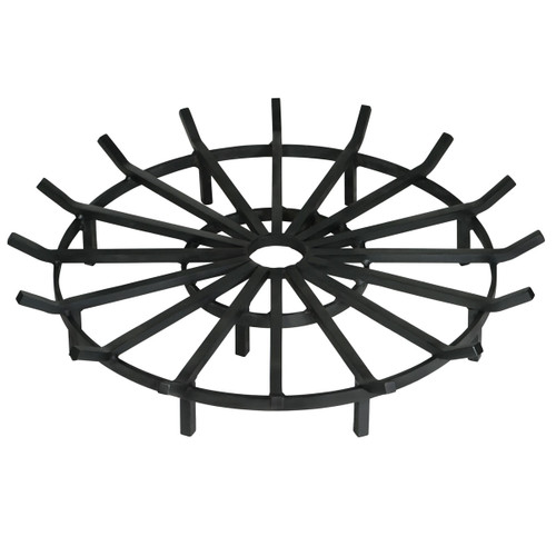 Super Heavy Duty Wagon Wheel Outdoor Fire Pit Grate- 36 inch Diameter