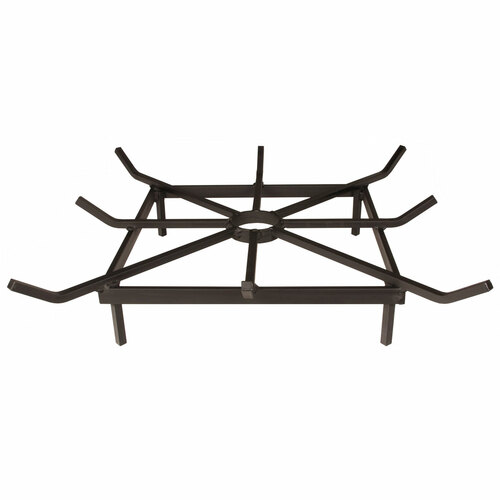 """24"""" Heavy Duty Steel Square Outdoor Fire Pit Grate"""