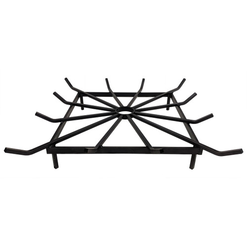 """28"""" Heavy Duty Steel Square Outdoor Fire Pit Grate"""