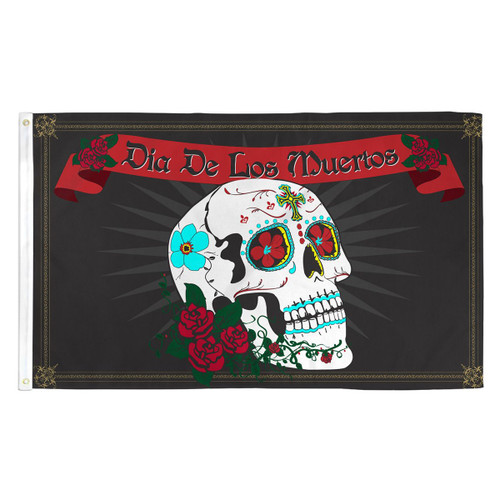 Day of the Dead Flag - 3ft x 5ft Printed Polyester