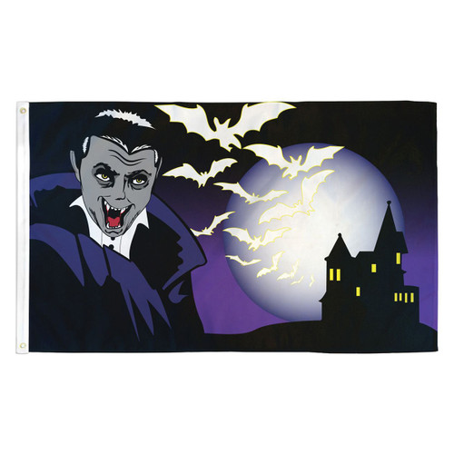 Halloween Vampire Flag - 3ft x 5ft Printed Polyester