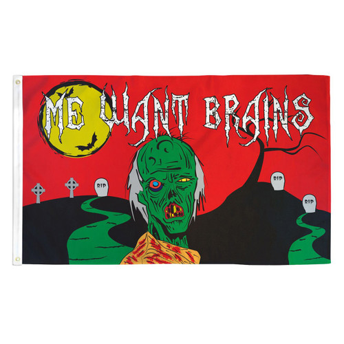 Halloween Zombie Flag - 3ft x 5ft Printed Polyester