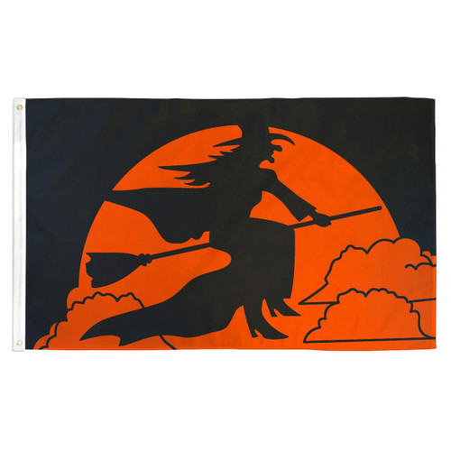 Halloween Witch Flag - 3ft x 5ft Printed Polyester