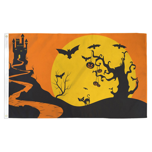 Halloween Night Flag - 3ft x 5ft Printed Polyester