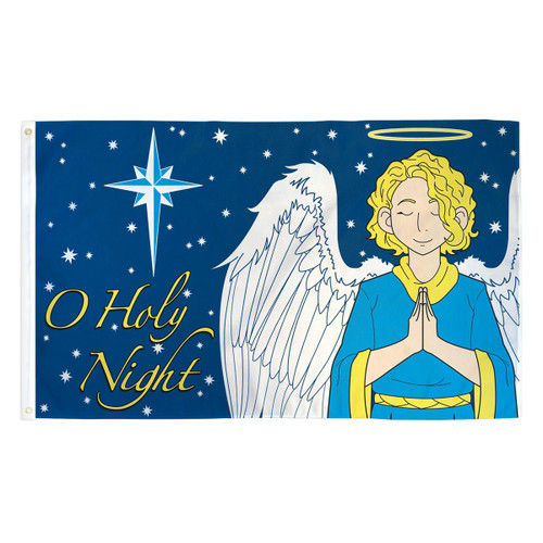 O Holy Night Flag - 3ft x 5ft Printed Polyester