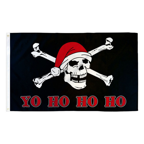 Yo Ho Ho Ho Pirate Flag - 3ft x 5ft Printed Polyester