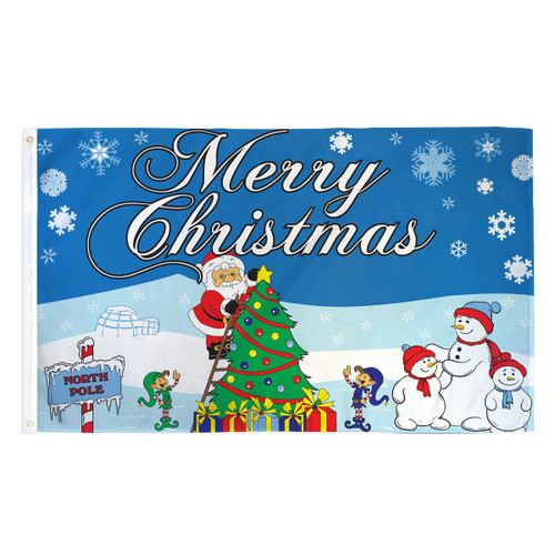 Merry Christmas (Northpole) Flag - 3ft x 5ft Printed Polyester
