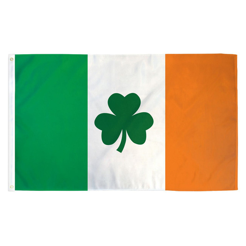 Ireland Clover Flag - 3ft x 5ft Printed Polyester