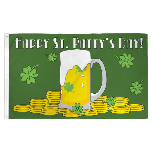 Happy St. Patrick's Day Flag - 3ft x 5ft Printed Polyester
