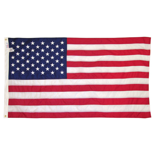 Valley Forge American Flag 3 ft x 5 ft Sewn Nylon - Lock Stitch - Presentation Box