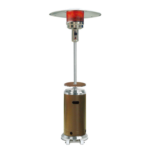 Steel Umbrella Patio Heater, 7' tall, Propane, 41,000 BTU - Bronze/Stainless Steel