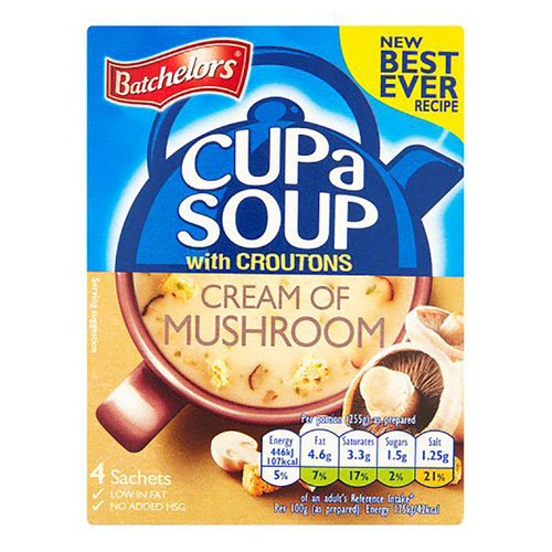 Batchelor's Cup-A-Soup - Cream of Mushroom 3.49 oz (99g)