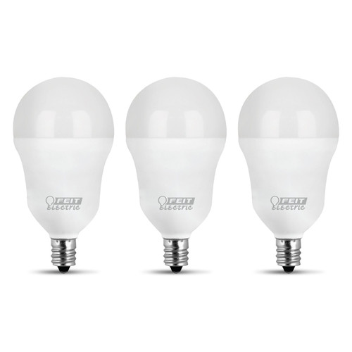 LED A15 - 3 Pack - 6.5 Watts - 60W Equiv - 500 Lumens - Feit Electric