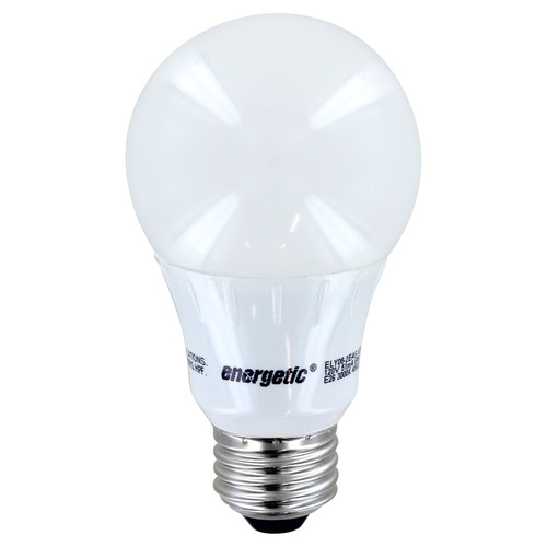 LED A19 - 6W - 40W Equiv - Frosted Lens - 450 Lumens - Energetic Lighting