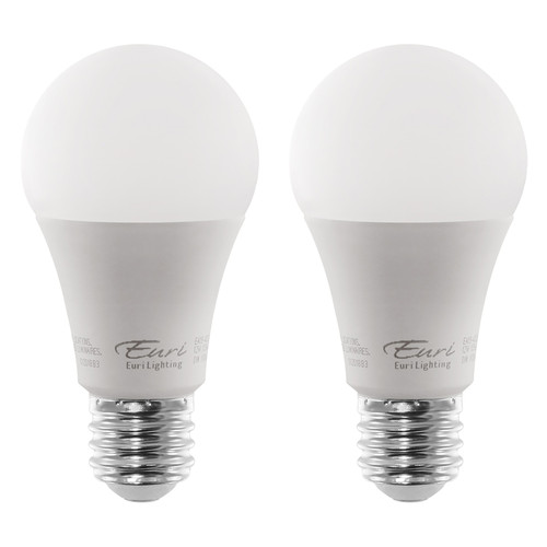 LED A19 - 2 Pack - 12W - 1100 Lumen  - Euri Lighting