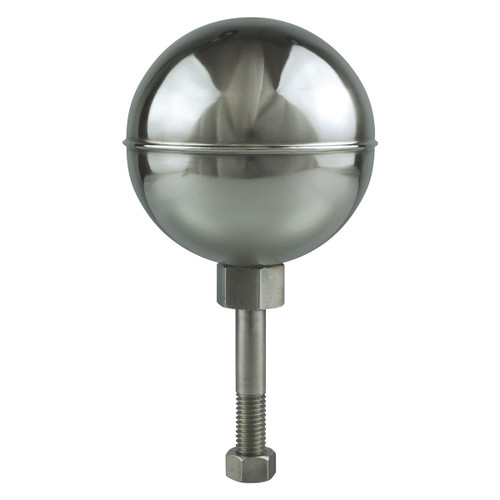 5-Inch Mirror Finish Stainless Steel Ball Flagpole Topper