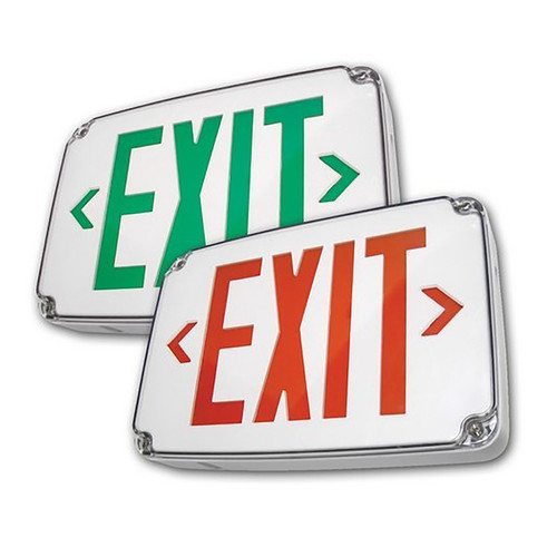 LED Exit Sign - Cold Weather & Wet Location Rated - 120/277V and Battery Backup - Morris