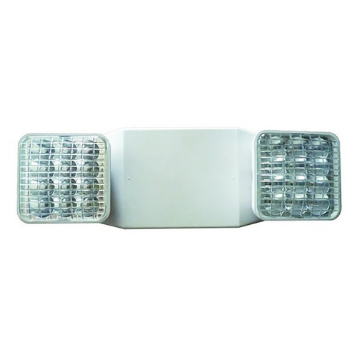 LED Square Head Remote Capable Emergency Light - Morris White
