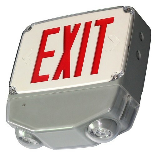 LED Cold Weather & Wet Location Combo - Emergency Backup Combo Exit & Emergency - Morris