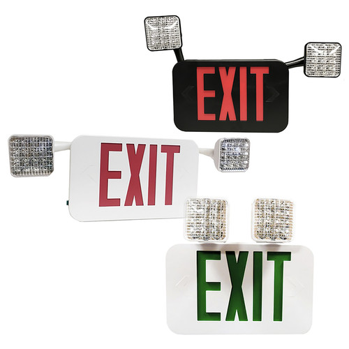 LED Combo Exit / Emergency Light -  Remote Capable - Rotatable Head - Morris