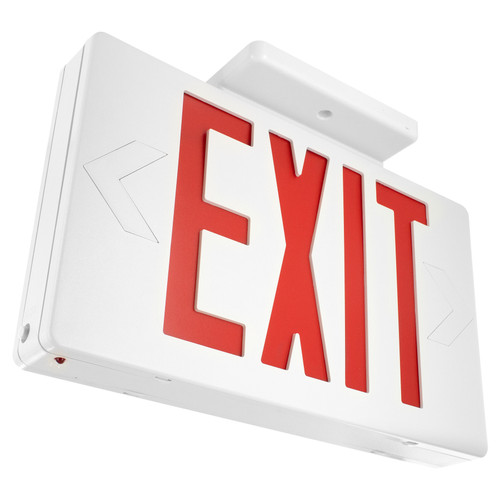 LED Classic Exit Sign - Battery Back Up - Double Sided - Canopy Mount Included- By TCP