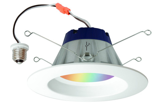 """LIGHTIFY® Color Changing RGBW LED Smart Connected 6"""" Recessed Downlight 13.5 Watts by Sylvania"""