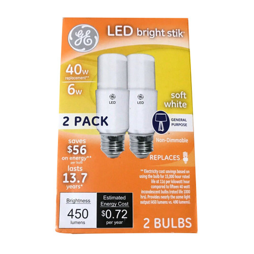 LED Bright Stik 40W 2 Bulbs