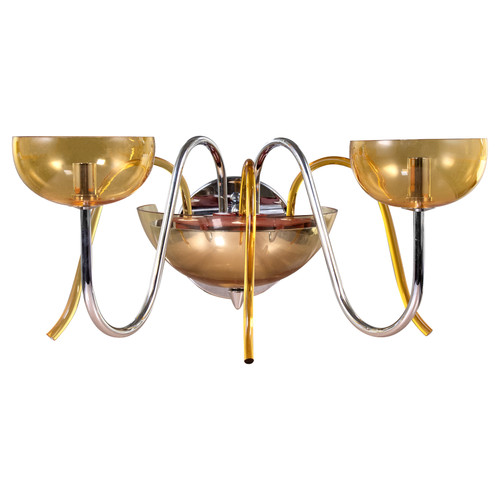 Zodiaco 2 Light Wall Sconce - Amber
