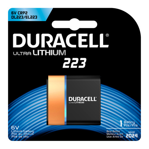 Duracell 223 Lithium Battery - 6V - 1/Pack