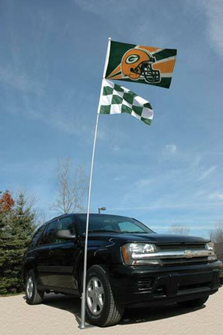 21-Foot Sporting Event Collapsible Aluminum Flagpole