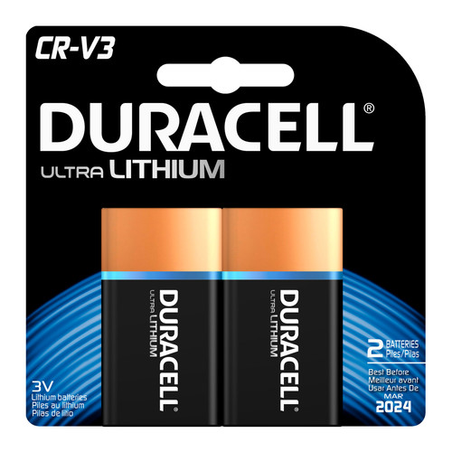 Duracell CR-V3 Lithium Battery - 3V - 2/Pack